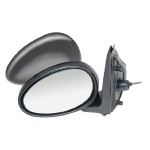Rover 45 [99-06] Complete Manual Cable Adjust Mirror Unit - Black Paintable